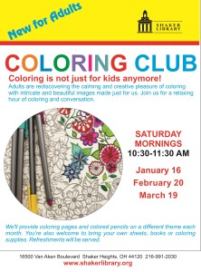 Coloring Club january february march 2016