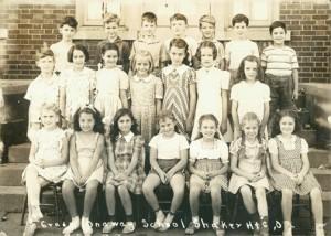 Onaway Elementary School, third grade, 1942