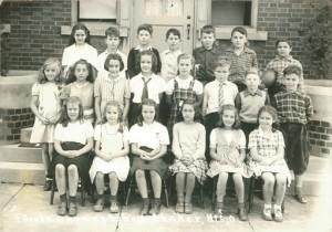 Onaway Elementary School, fourth grade, 1943