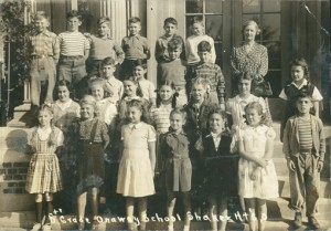 Onaway Elementary School, fifth grade, 1944