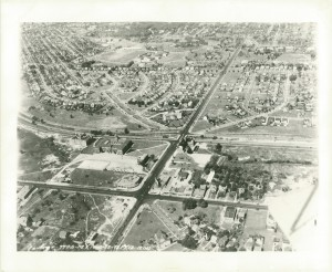 Aerial view of Kinsman - Lee - South Moreland intersections
