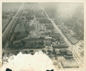 Aerial view of Kinsman - Lee intersection, c. 1951