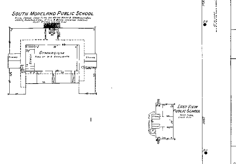 Sanborn Map 1933 - East View School