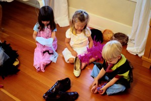 Playing: Children learn about language through different kinds of play.